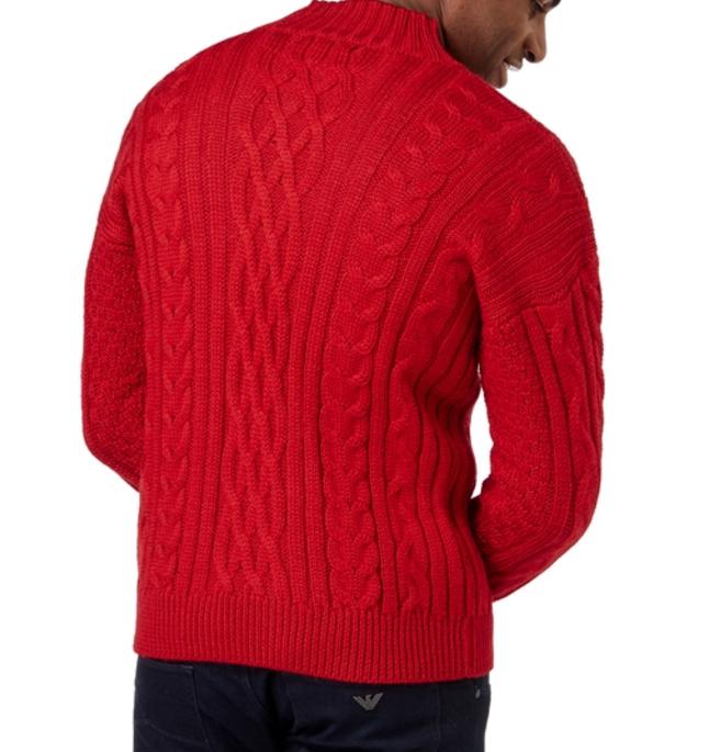 Мужской свитер на молнии из натуральной овечьей шерсти WoolOvers