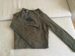 Замшевая куртка SILVIAN HEACH р-р S цвет зеленый-милитари