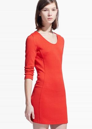 Платье Mango оранжевое
