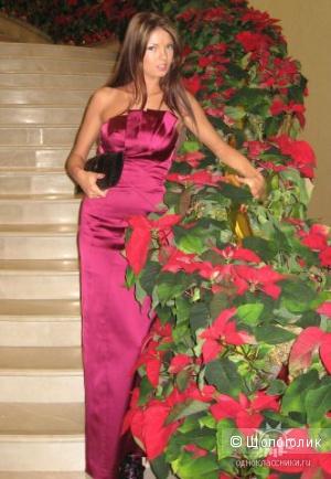 Karen Millen шикарное вечернее платье в пол как у актрисы Натальи Бордо р.44