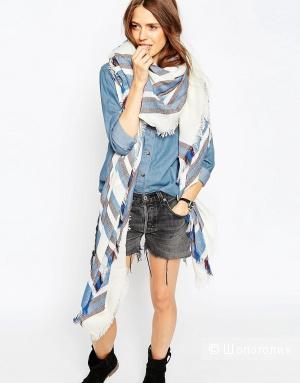 Широкий шарф в полоску ASOS