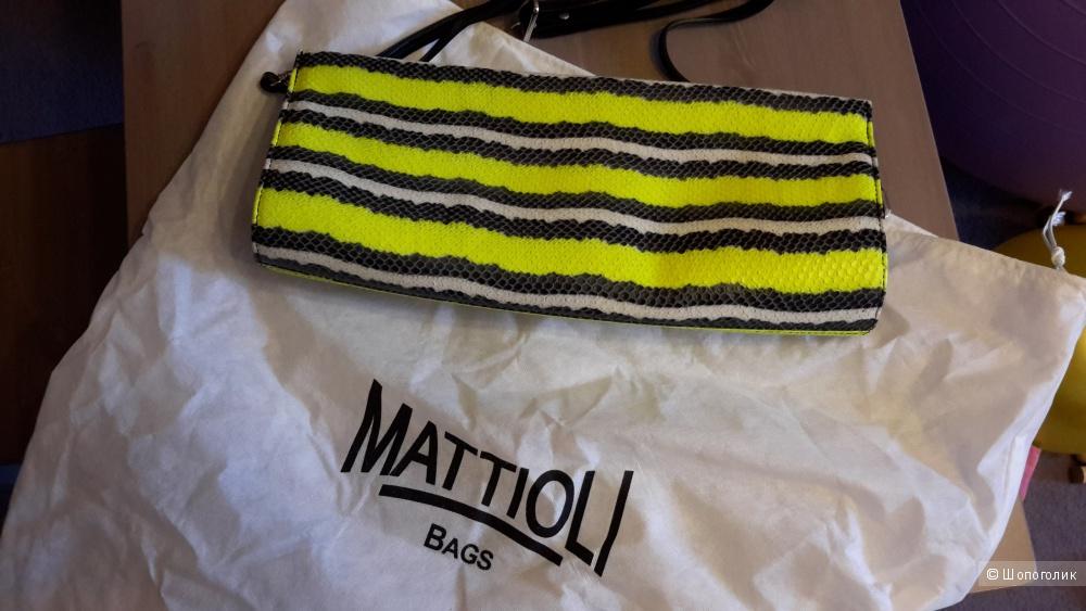 Сумка клатч большой Mattioli кожа