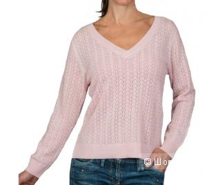 Женский ажурный пуловер из кашемира и мериноса