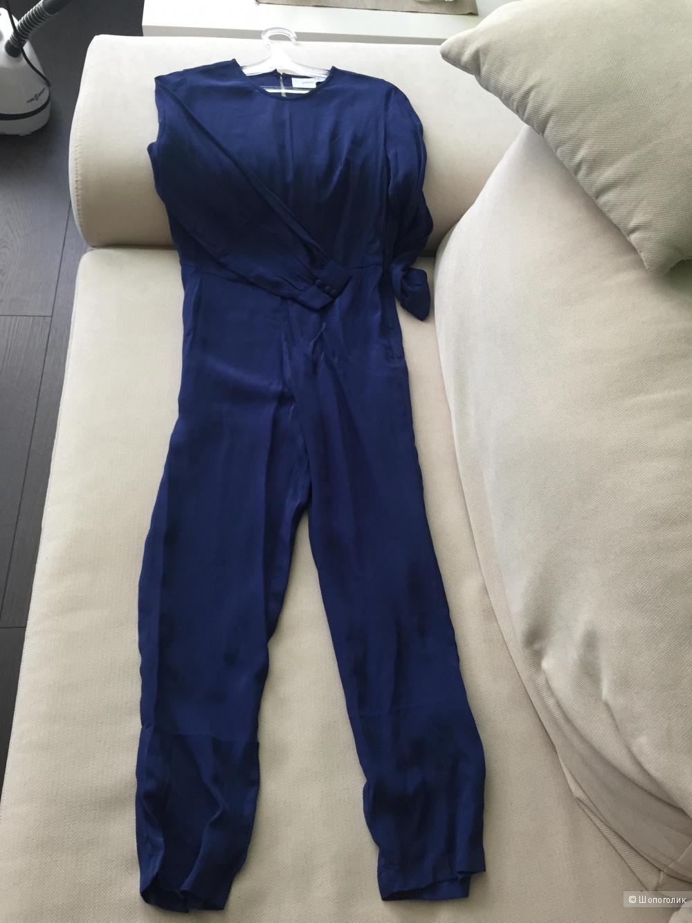 Классический комбинезон с длинными рукавами ASOSPETITE синий UK4
