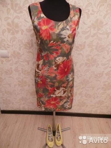 Пестрое английское платье Anny Where, 40