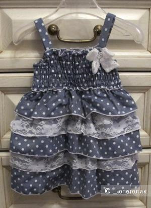 Новое платье Little Lass 3/6 мес и даже на постарше