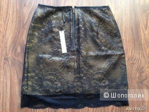 Elie Tahari шикарная дизайнерская юбка кружево р.44 и р.48
