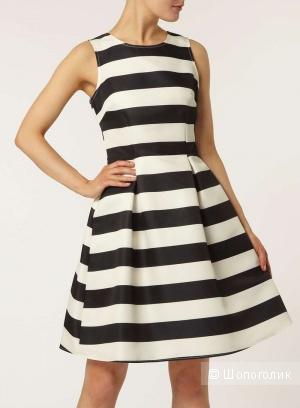 Dorothy Perkins Luxe кремово-чёрное платье в полоску, UK10 (М)