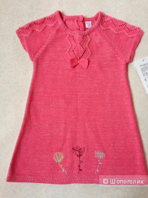 Детское теплое платье с люриксом 1.5-2 годика