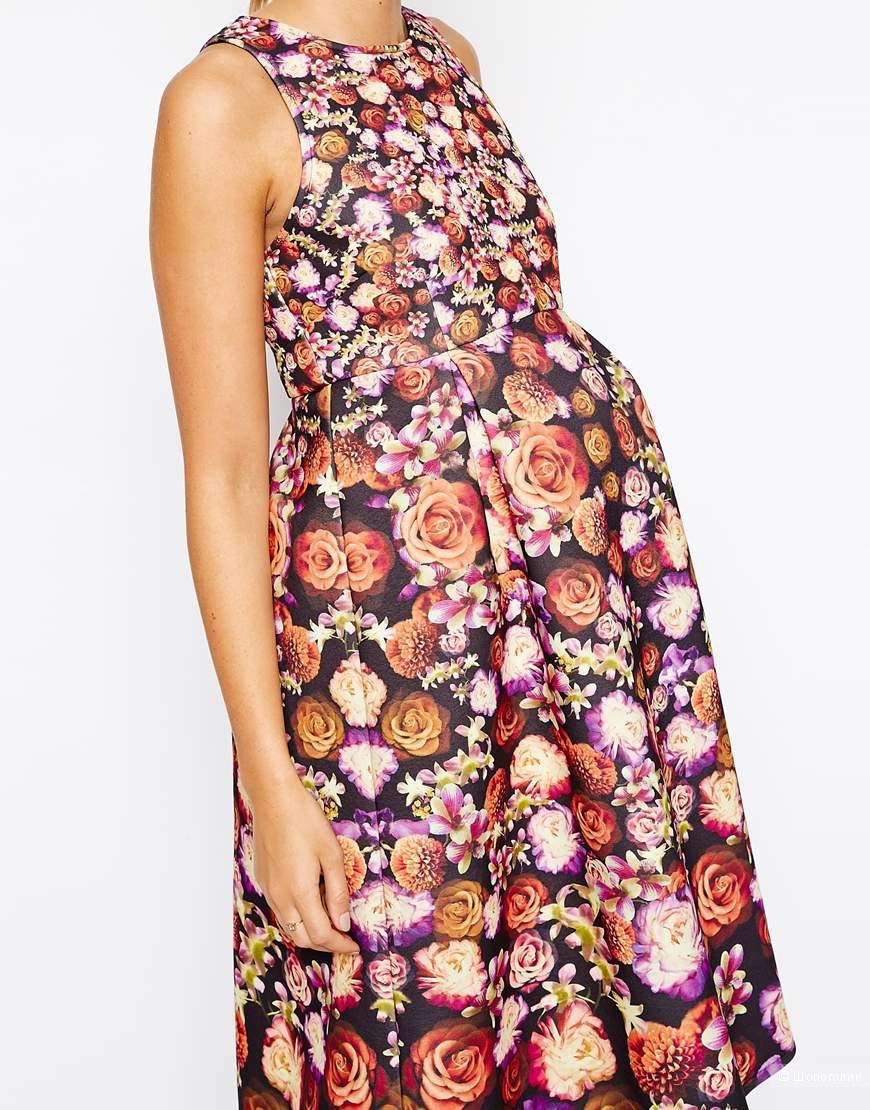 ASOS Maternity платье из неопрена в цветочный принт для беременных, UK8 (S), UK10 (М).