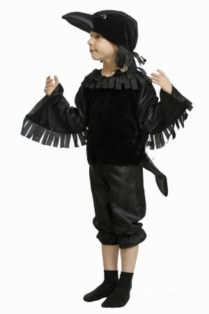 Карнавальный костюм Ворон (для мальчика), 30 р-р (116-122см)
