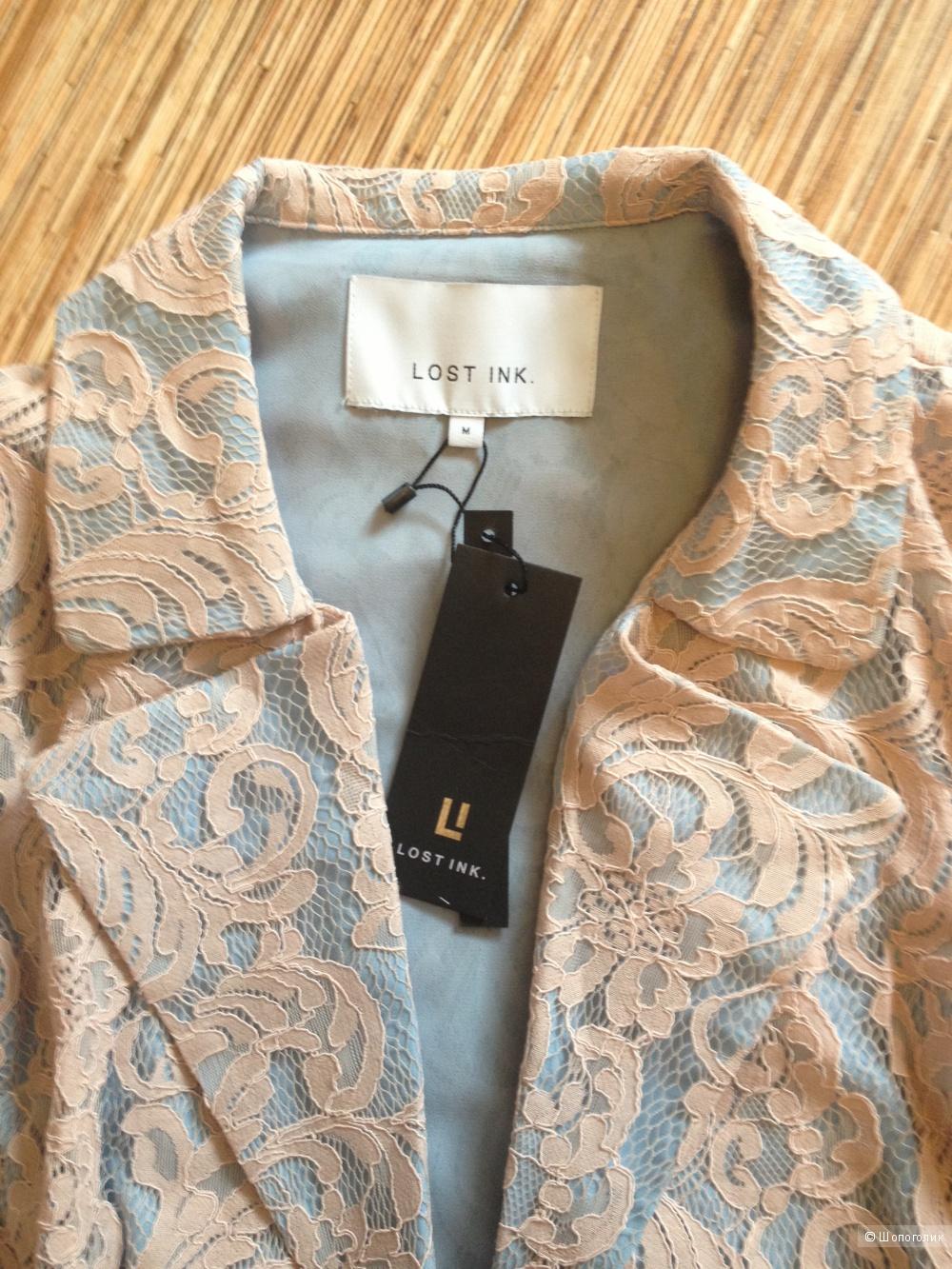 Кружевной oversize-пиджак Lost Ink, с ASOS, размер М, на 42-44 рус, новый, с этикетками