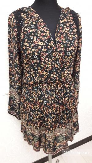 Springfield: вискозное платье-туника, евро 40