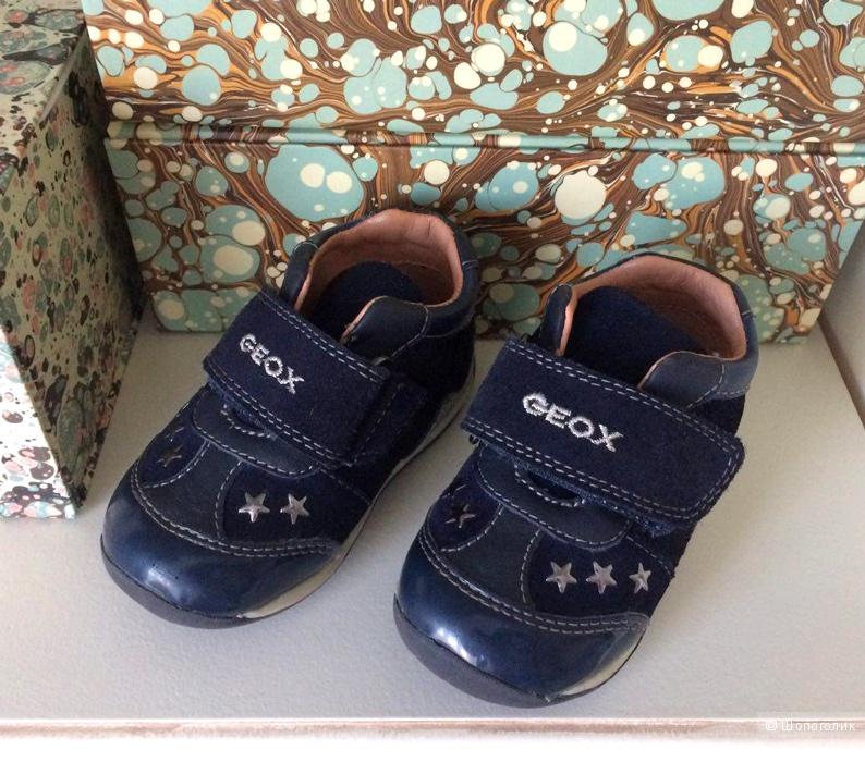 Темно-синие Geox из кожи и замши, 20 размер