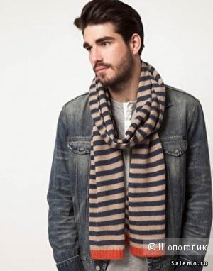 Шерстяной стильный шарф от Pepe Jeans