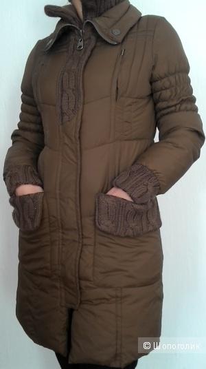 Утепленное пальто Naf Naf размер S