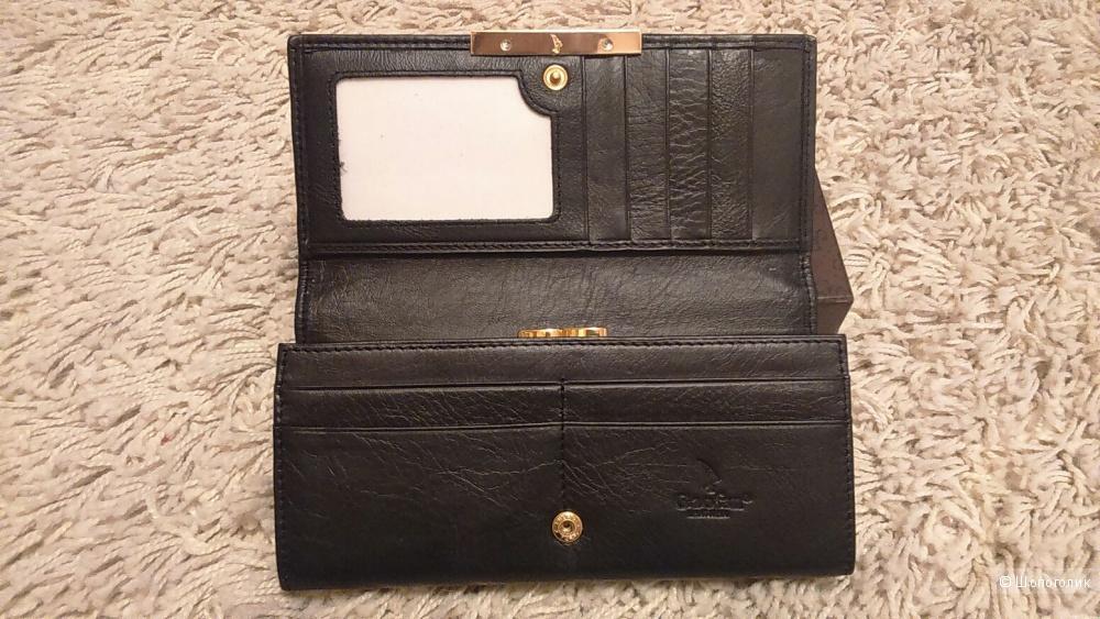 Кожаный кошелёк с ворсом пони