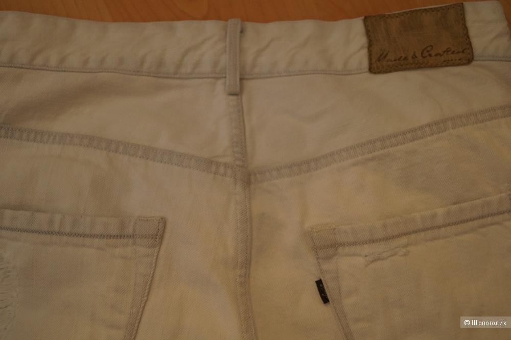 Продаю джинсы LEVI'S® MADE & CRAFTED™, размер 27, белые, б/у