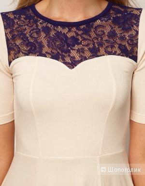 Кремовое платье asos