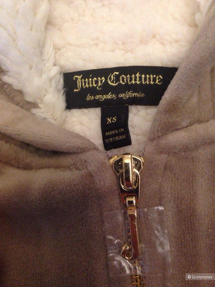 Шикарная толстовка с искусственным мехом  Juicy Couture XS