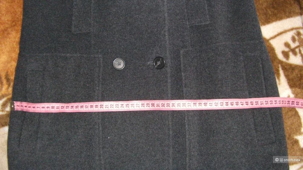 Новое пальто в стиле милитари Stefanel темно-серое 40EU