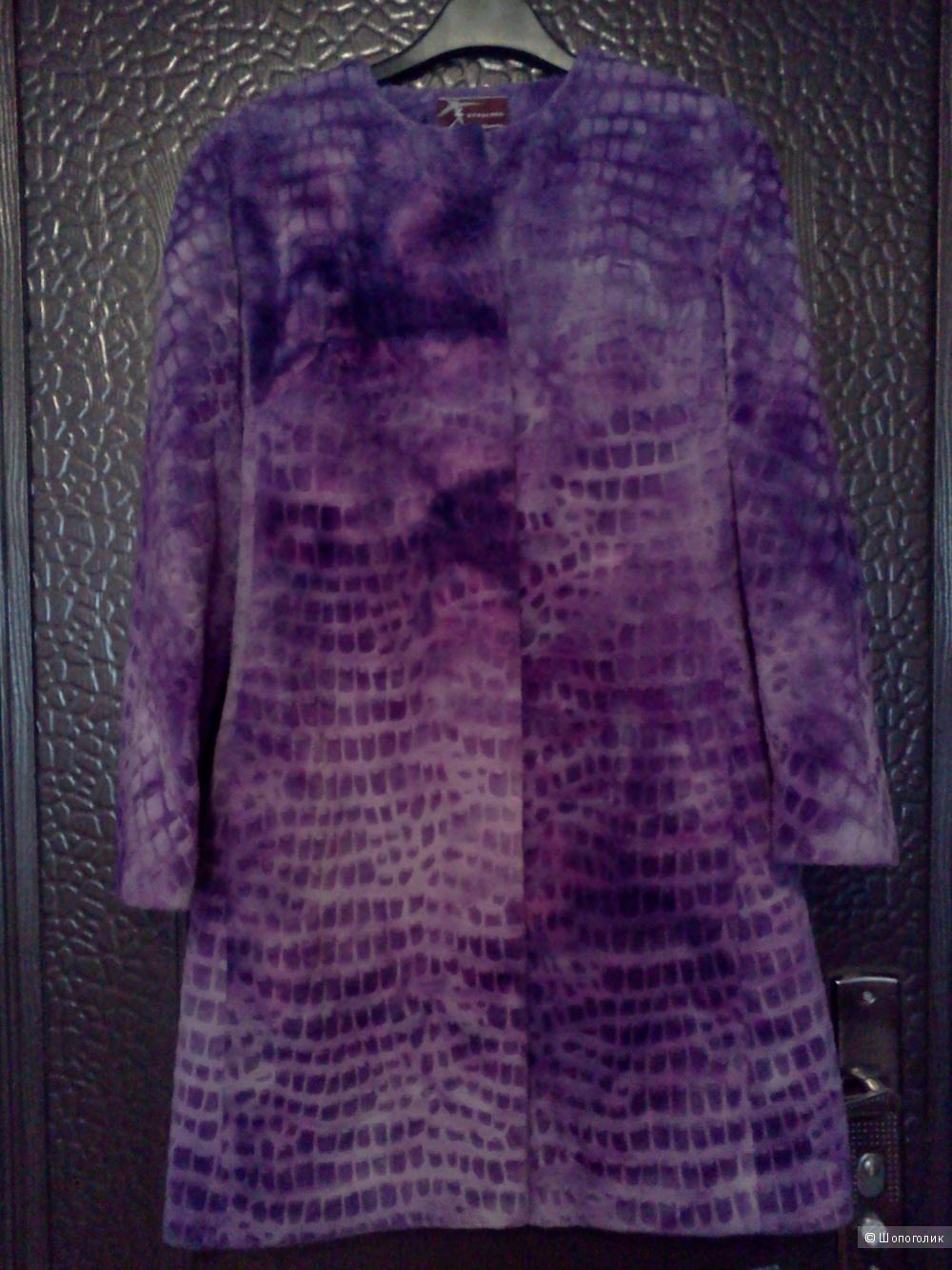 Плюшевое пальто 42-44р