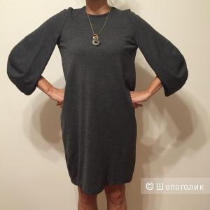 Платье трикотажное из тонкой шерсти Jil Sander
