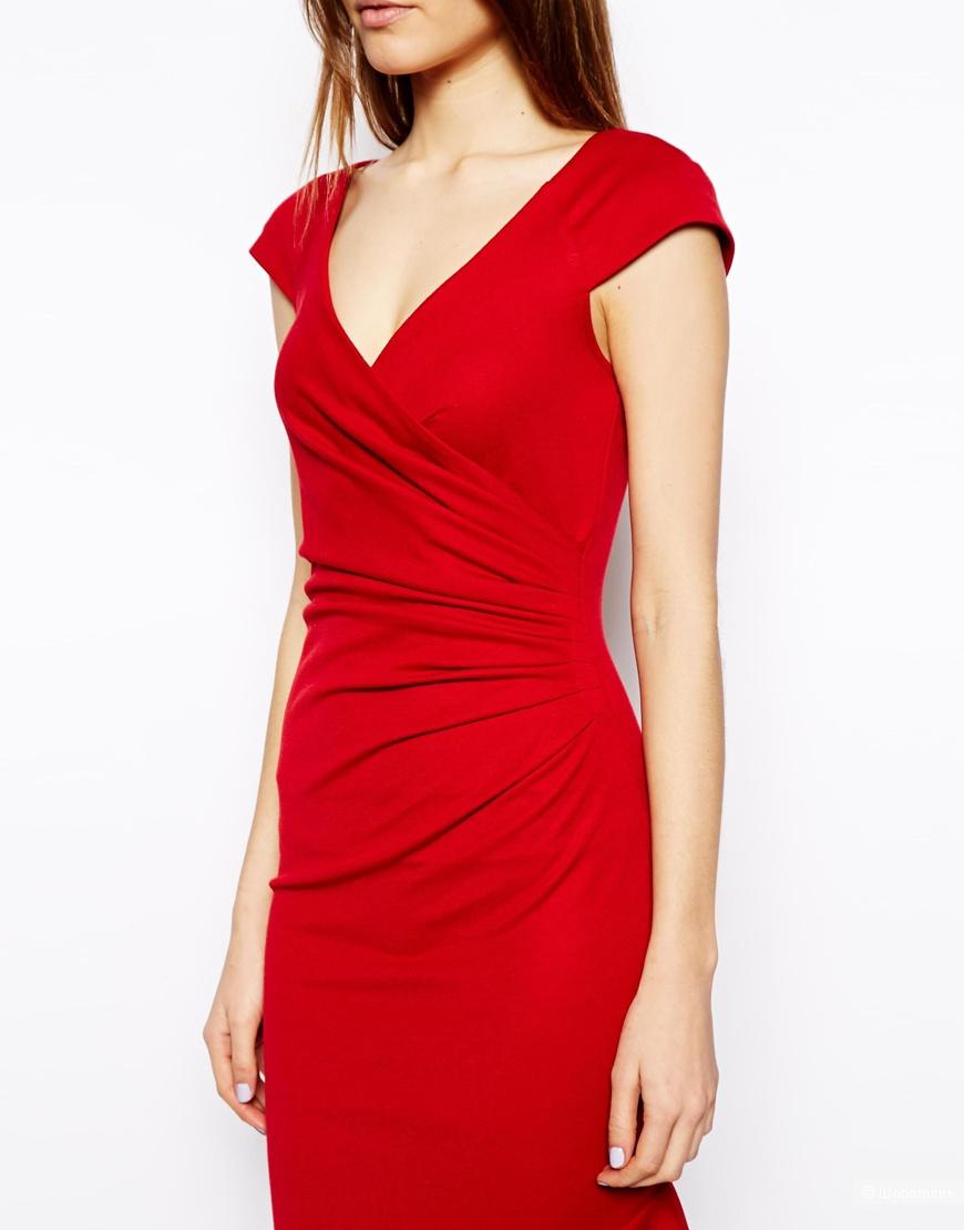 Платье-футляр с запахом ASOS  46 разм.