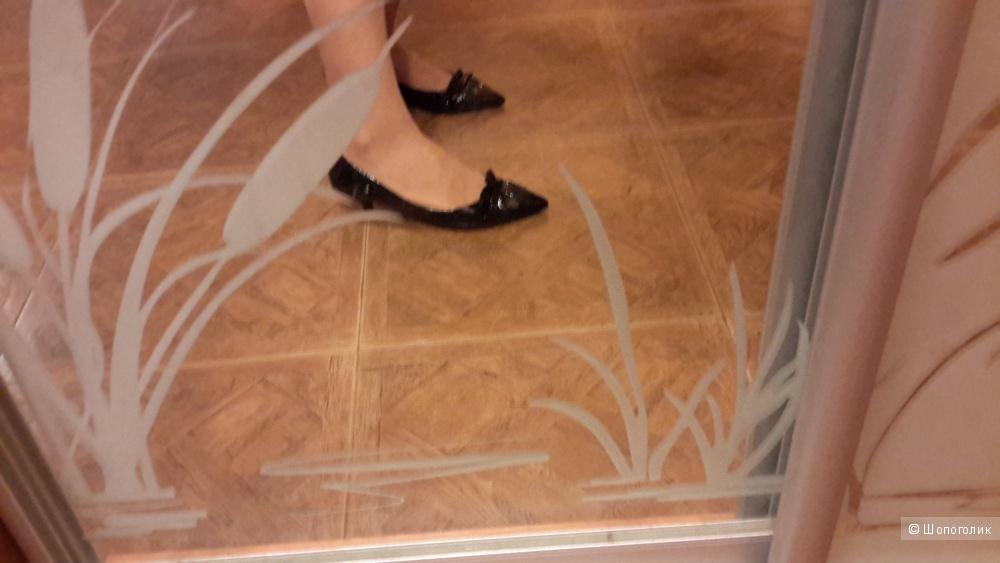 Туфли K+С новые р.6 на наш 39 полноценный кожа лак