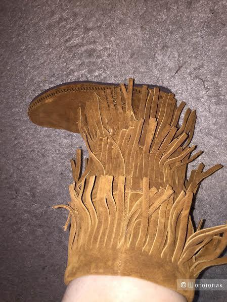 Сапоги MINNETONKA новые, замша с бахромой, размер 8US.