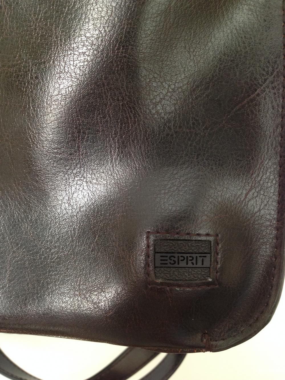 рюкзак кожаный Esprit цвет горький шоколад