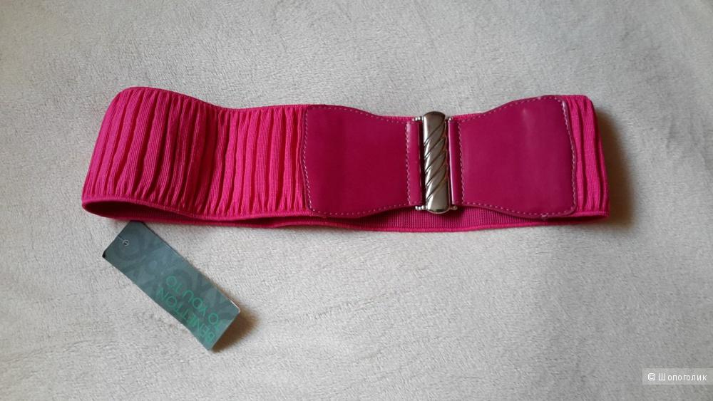 Ремень на талию Benetton размер М, новый, цвет розовый