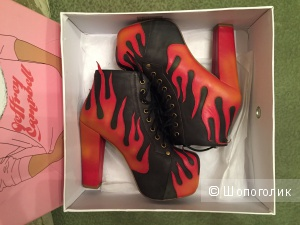 Новые ботинки Jeffrey Campbell Lita Flame евро 37