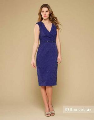 Monsoon синее жаккардовое платье UK8