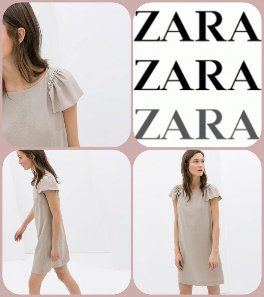 ZARA легкое платье в стиле бохо размер М