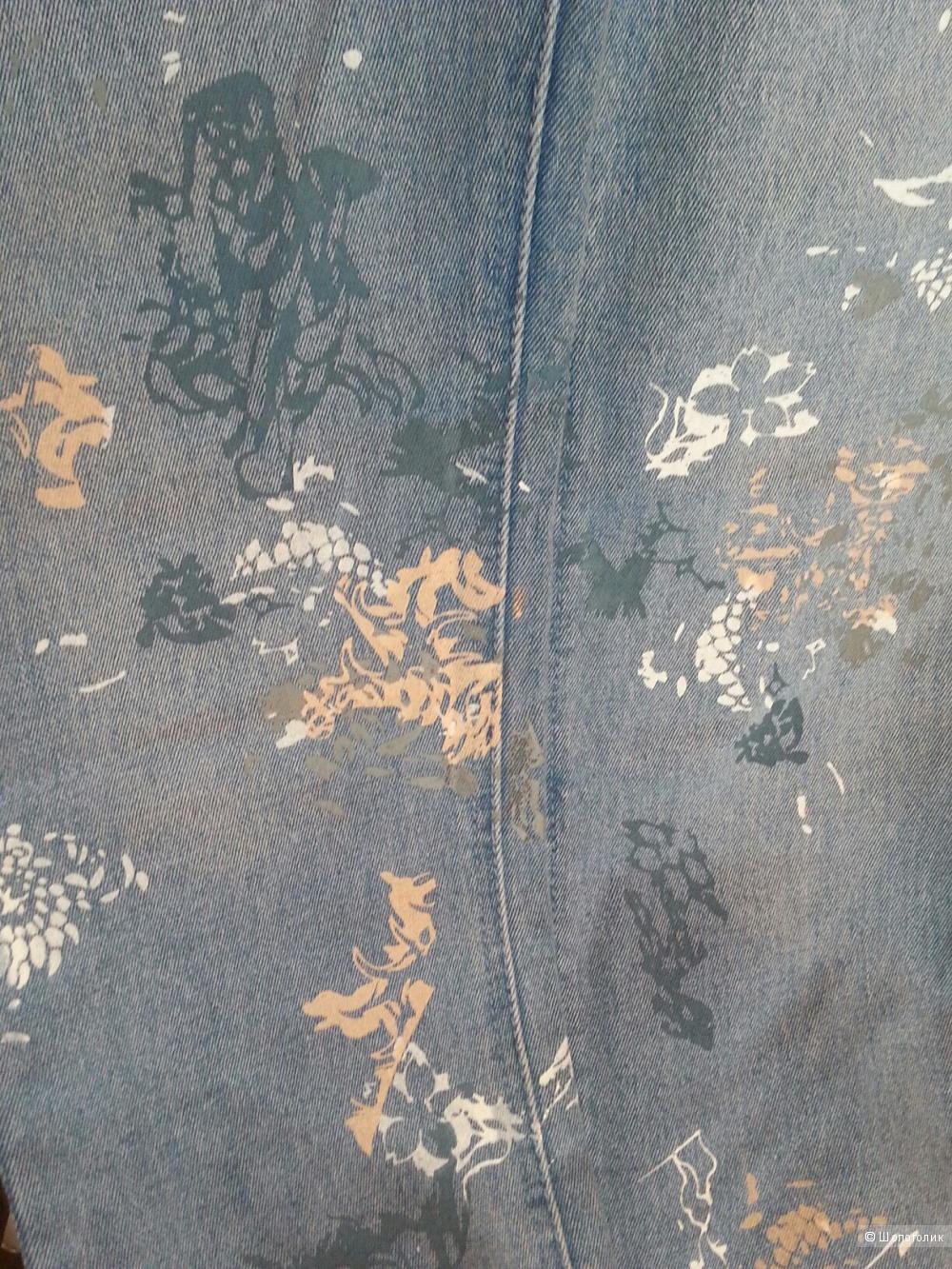 Cheap Monday голубые джинсы с принтом 29/32