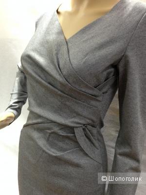 ROBERT RODRIGUEZ офисное строгое брендовое платье с длинным рукавом р.44