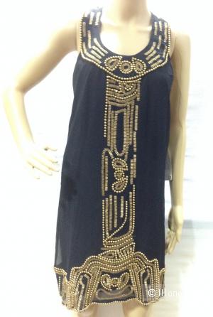 Потрясающе красивое платье от Галины Соболевой Single расшито бусинами и пайетками р.44