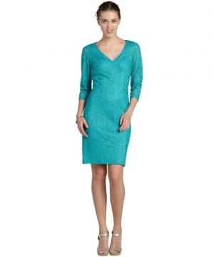 Sue Wong шикарное дизайнерское платье расшитое узором р.44