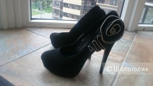 Туфли кожа черные Basconi 38 раз-р в идеальном состоянии