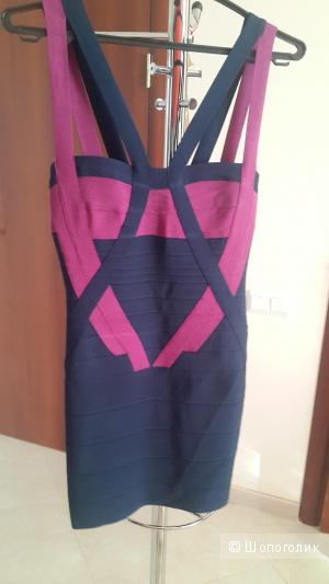 Платье бандажное утягивающее Herve Leger размер М