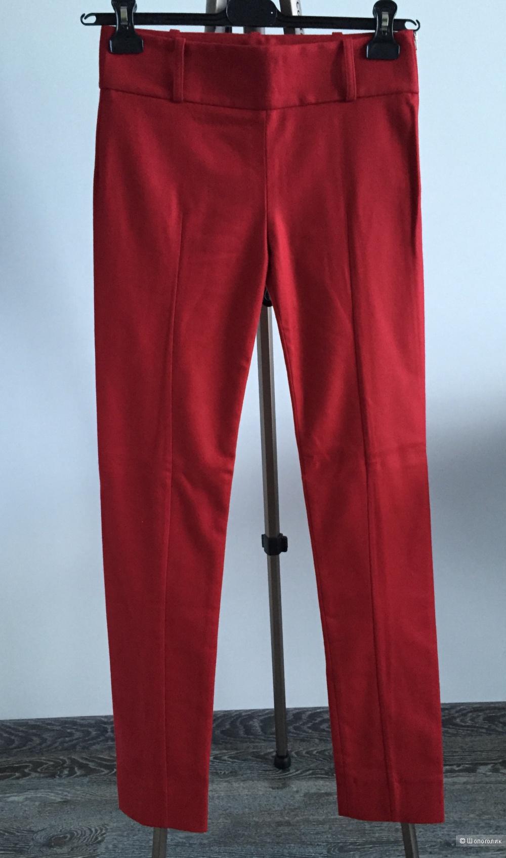 Шерстяные брюки с кашемиром Acne Studios красные зауженные со стрелками