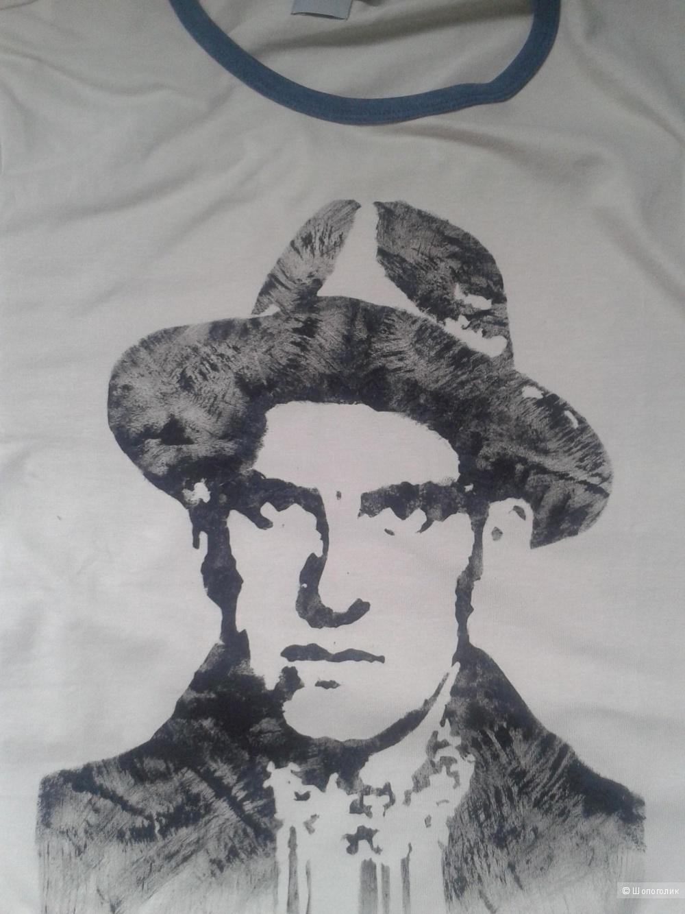 """Мужская футболка ASOS с ручным принтом """"Маяковский"""", размер L"""