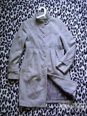 Пальто серое деми  sisley 42-44
