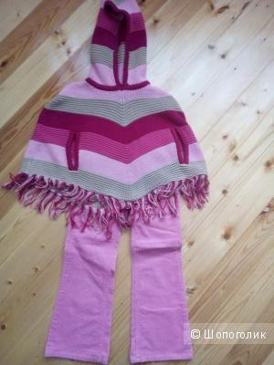 Osh Kosh пончо и Osh Kosh вельветовые брюки для девочки 4-5 лет.