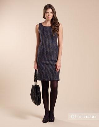 Monsoon тёмно-синее твидовое миди платье Tara, uk8