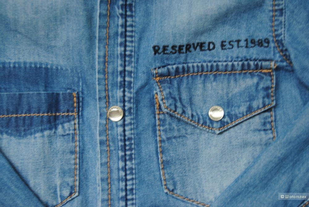 Рубашка Reserved на девочку, тонкий джинс, 104, б/у