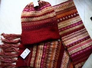 Комплект шарф+шапка  зима