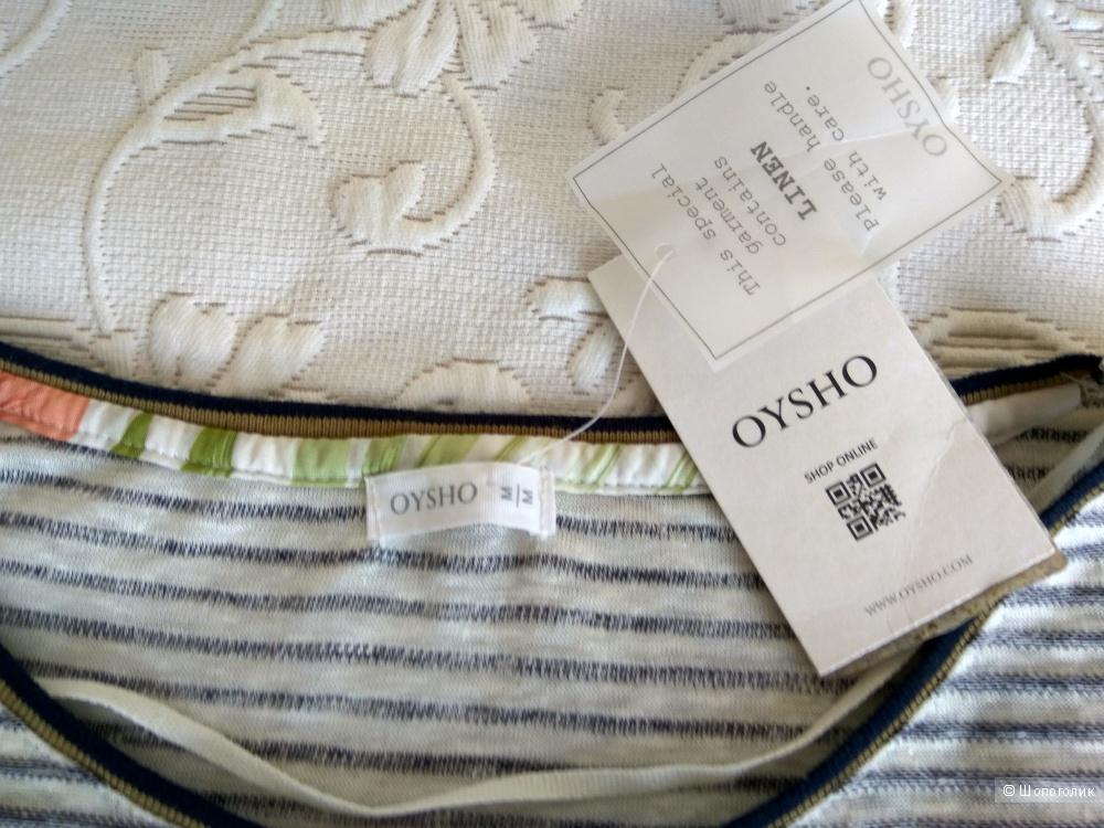 Льняная футболка  OYSHO новая  разм.М