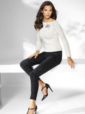 Брюки-джинсы 7/8 из хлопкового бархата Alba Moda, новые, черного цвета, 36 нем